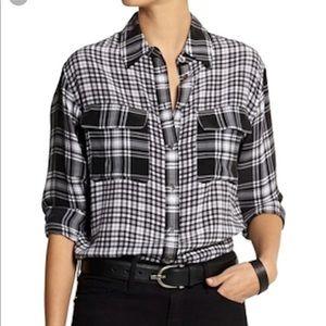 Equipment | Silk Mixed Plaid Button Up Shirt